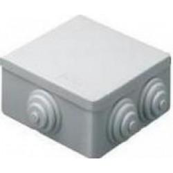 CASSETTA IP44 80X80X40 CON PASSACAVI ( GEWISS cod. GW44003 )