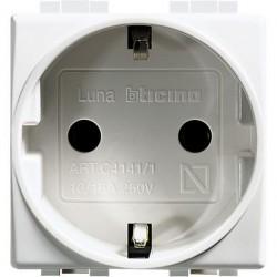 LUNA - PRESA UNEL 2P+T 16A ( BTICINO cod. C4141 )