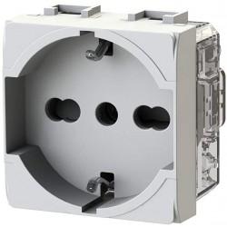 Presa elettrica schuko  P40 Bticino LivingLight Bianca ( 4 BOX cod. 4B.N.P40 )