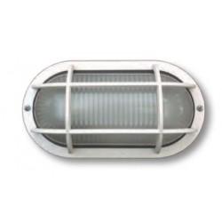 PLAFONIERA CON GRIGLIA 40W BI.VETRO TRASPAREN. ( LAMPO LIGHTING cod. E090VTRBI )