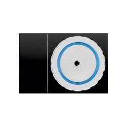 TELAIO COMETA TIPO 2 PER 2 FRUTTI NERO AXOLUTE ( LINERGY cod. CMTL2-2F-N )