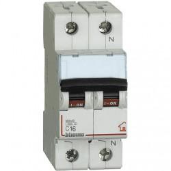 BTDIN-RS- MAGNETOT C16 1P+N 2M 4500A ( BTICINO cod. FC810NC16 )