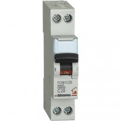 BTDIN-RS- MAGNETOT C20 1P+N 1M 4500A ( BTICINO cod. FC881C20 )