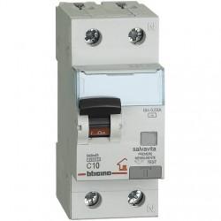 BTDIN-RS - MAG. DIFF  AC 1P+N30MA 10A 4500 ( BTICINO cod. GC8813AC10 )
