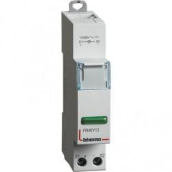 BTDIN - SINGOLA LED VERDE 12/48V AC/DC ( BTICINO cod. FN40V12 )