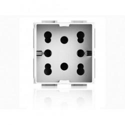 Presa Bipasso Schuko 10/16A 2 Side  per Gewiss System ( 4 BOX cod. 4B.G20.H21 )