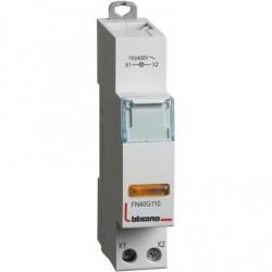 BTDIN - SINGOLA LED GIALLA 110/400V AC ( BTICINO cod. FN40G110 )