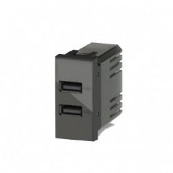 USB 2.4A PER BT LIVINGLIGHT ANTRACITE ( 4 BOX cod. 4B.L.USB.24 )